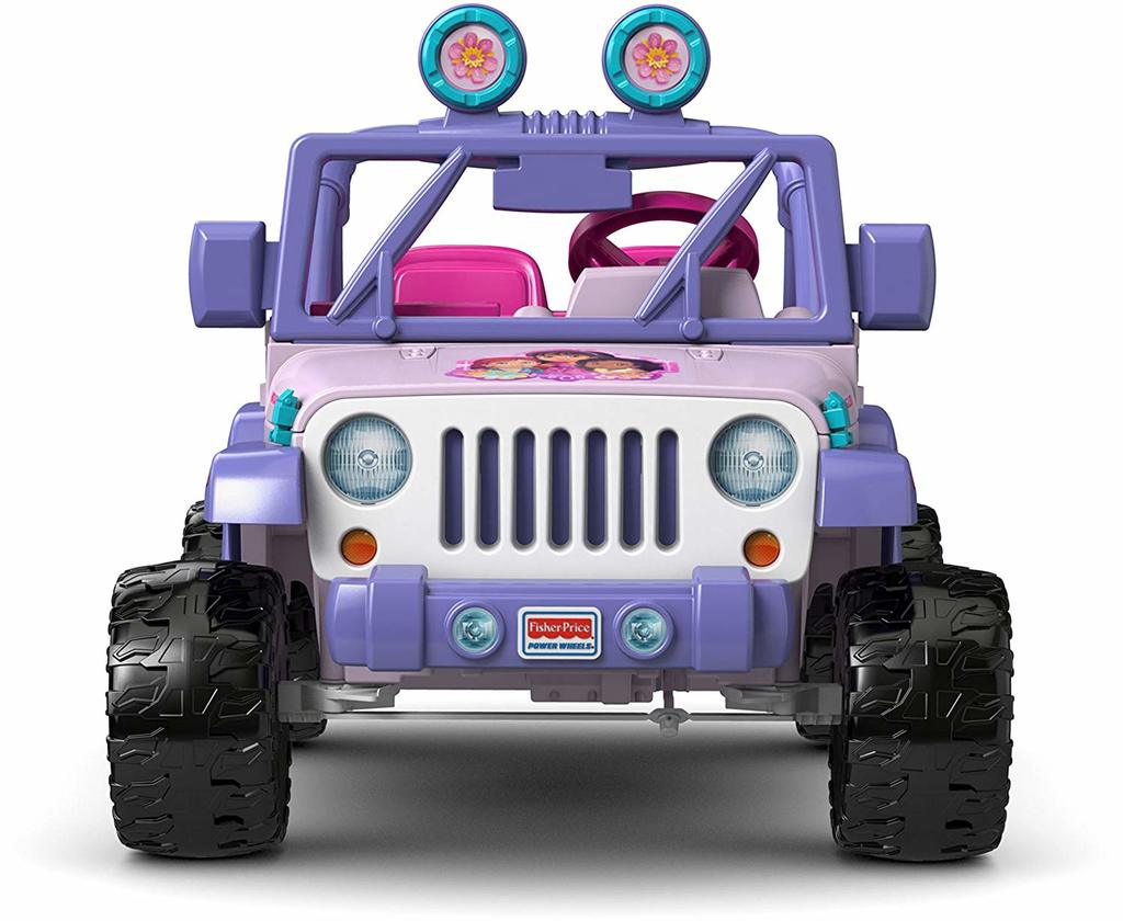 Distinct styling helps this power wheels for girls stand out amongst the crowd.