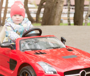 There are fast and fun ride on cars available for children and infants of all sizes.