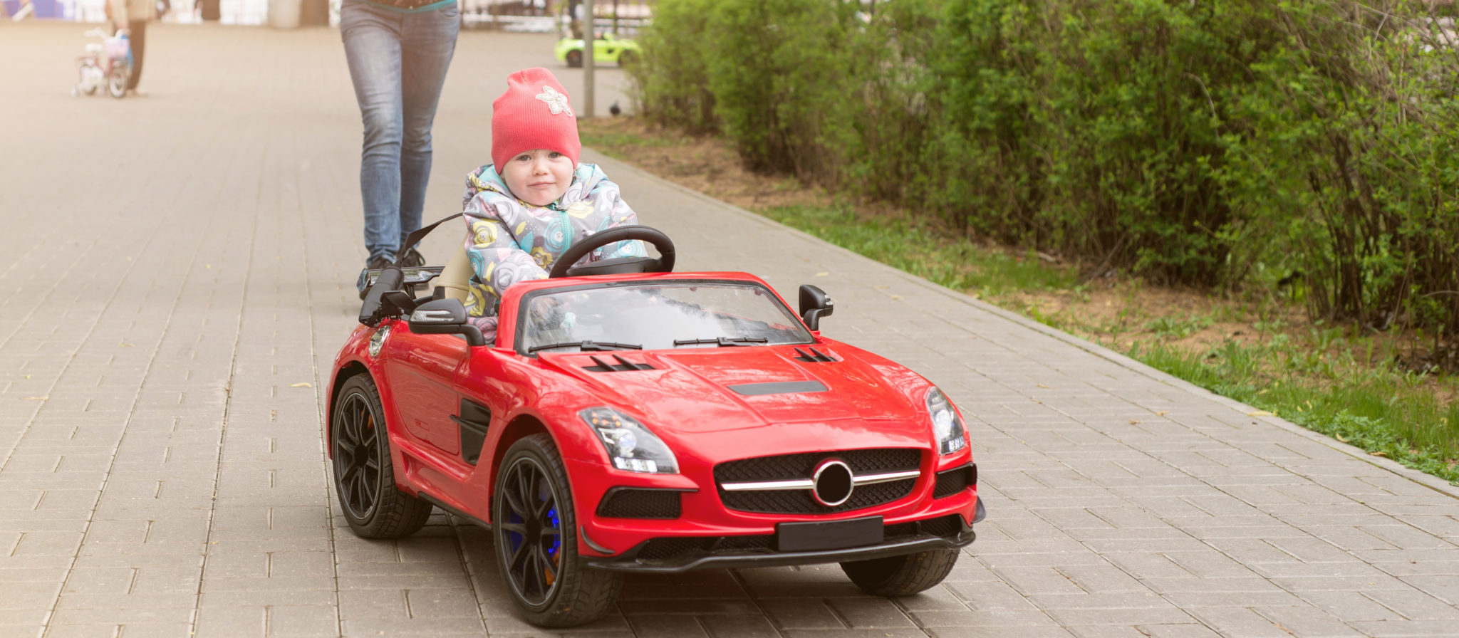 Kids absolutely love Mercedes Benz remote control power wheel toys!