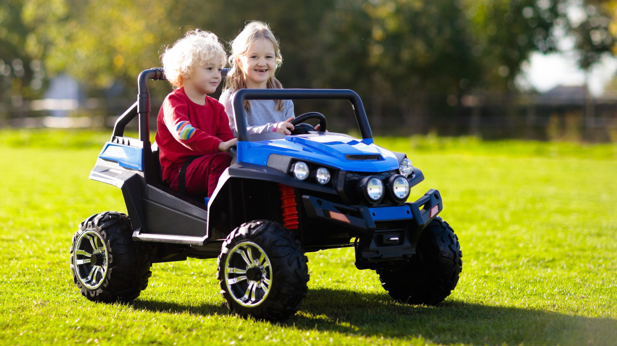 What do 8 year olds like to do for fun? Ride Power Wheels with their friends!