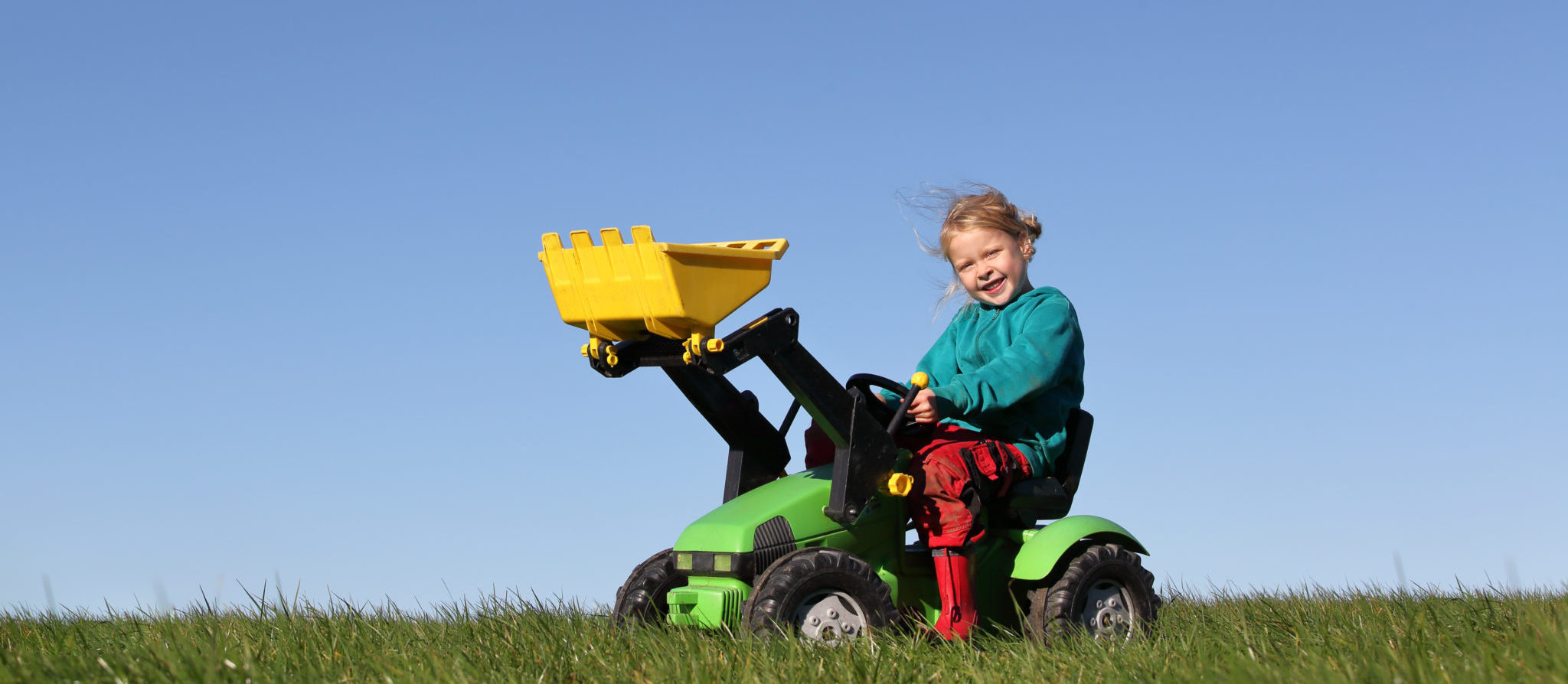Why settle for a truck with one seat when you could be out in the field with a friend or sibling?