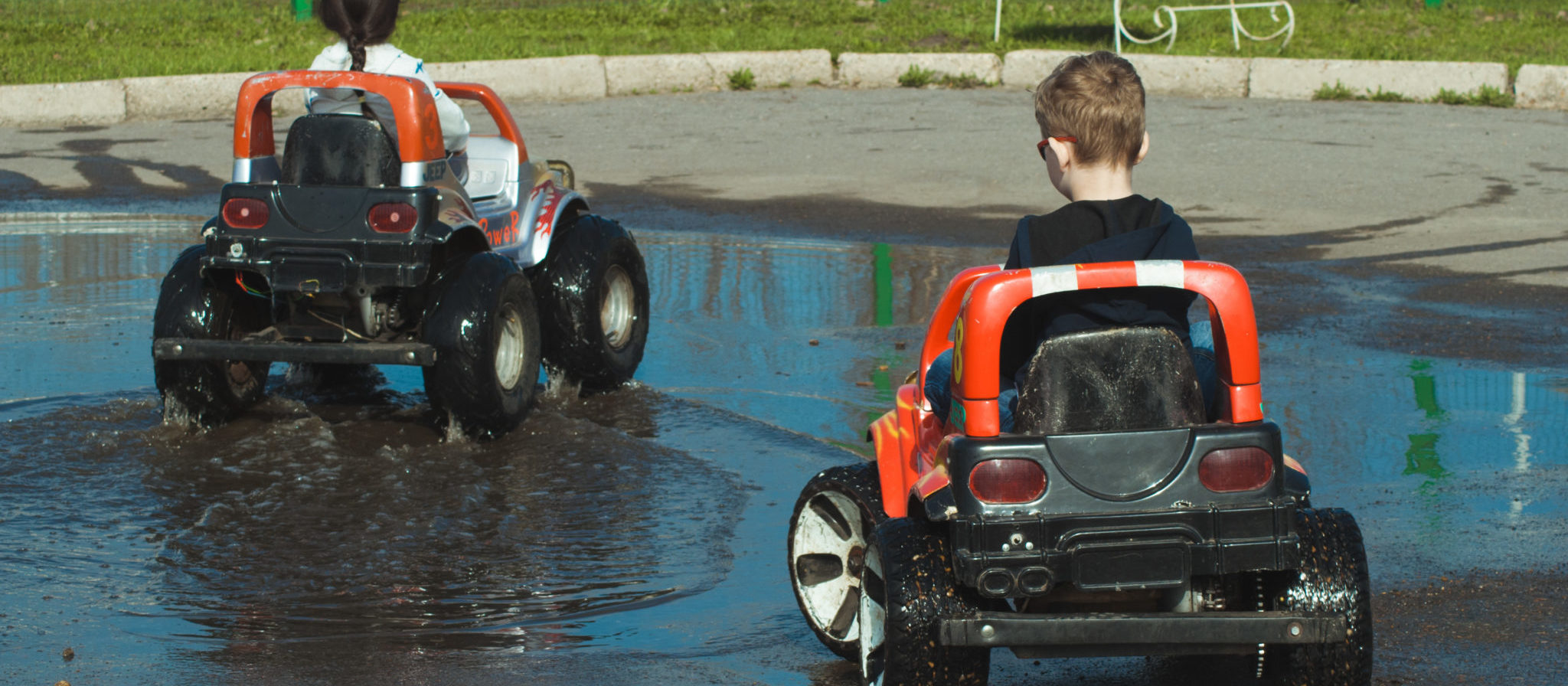 Take your kid to the park and let them tear it up in their 24V ride on car with remote control.