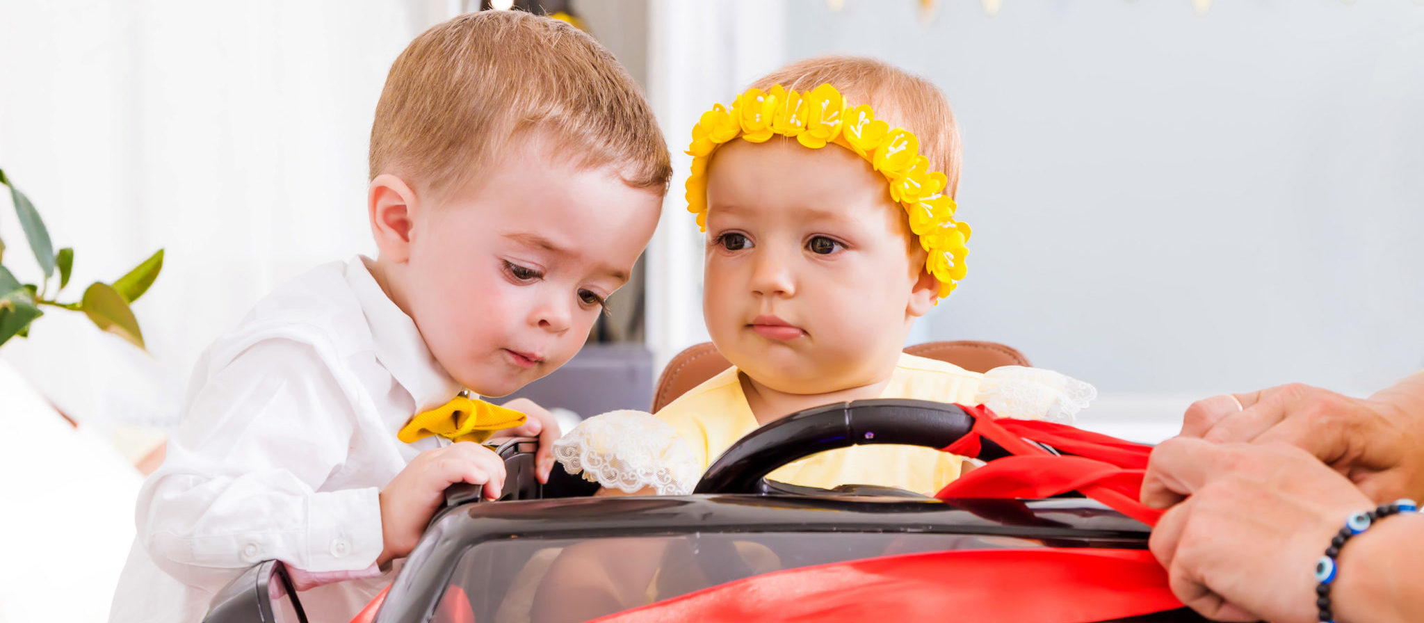 Ride on toys offer children the opportunity to share with others and develop communication skills.