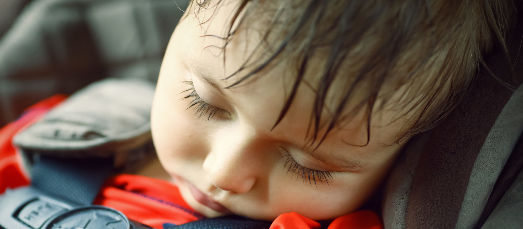 A sleeping baby is the best possible scenario for any long car ride.